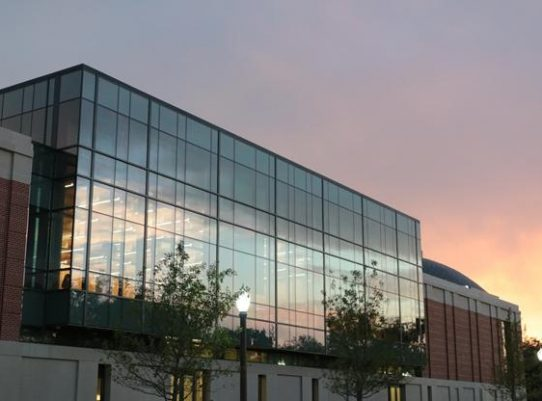 Paul L. Foster Campus for Business and Innovation Sunset